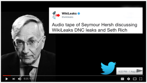 Image result for seymour hersh seth rich murder source of wikileaks DNC